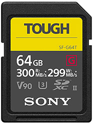 sony sf-g64t memory card for sony a7iii