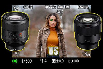 Sony FE 85mm F1.4 GM vs 85mm 1.8 Comparison
