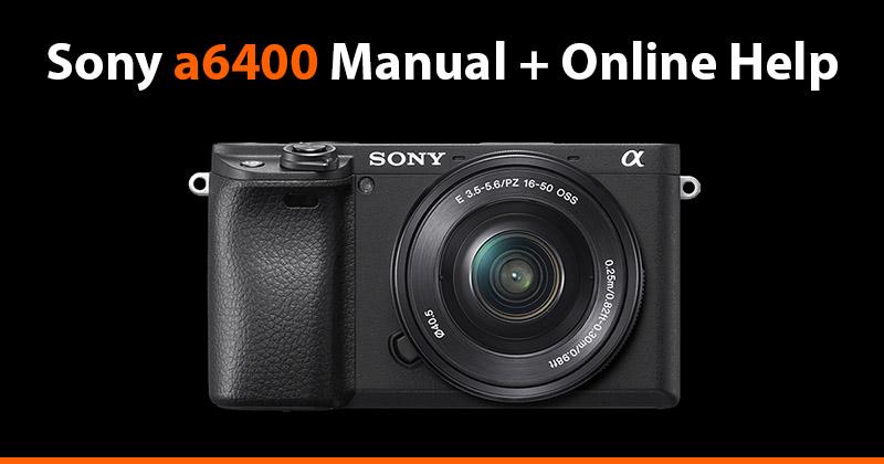 sony a6400 manual