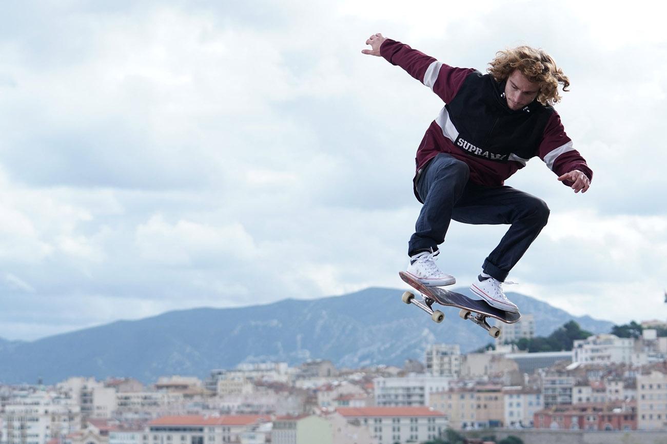 sony a6400 sample image skateboarder