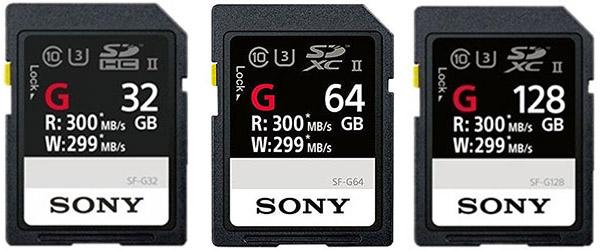 sony a9 sf-g memory cards