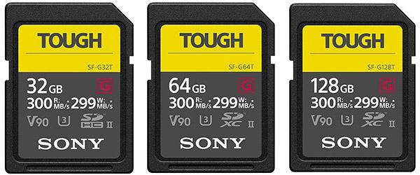 sony a9 sf-g tough memory cards