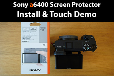 sony a6400 screen protector
