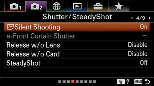 sony a6400 time-lapse setup steadyshot