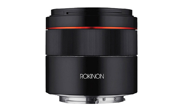 rokinon 45mm f1.8 sony fe lens side