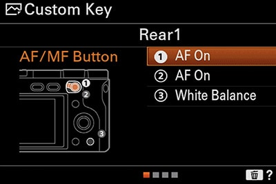 sony a6400 back button focus