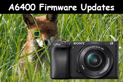 sony a6400 firmware updates