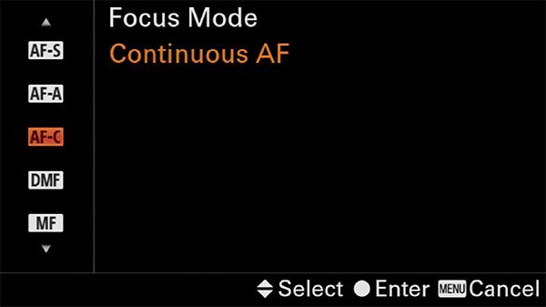 sony a6400 focus mode af-c