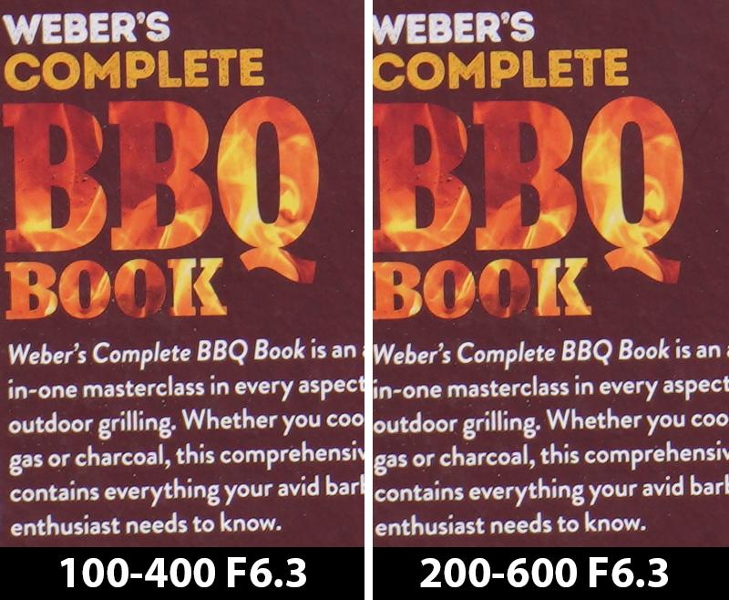 400mm comparison bbq book f/6.3