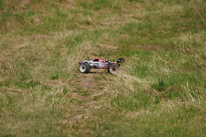 Sony 200-600 at 400mm HPI Nitro RC Buggy