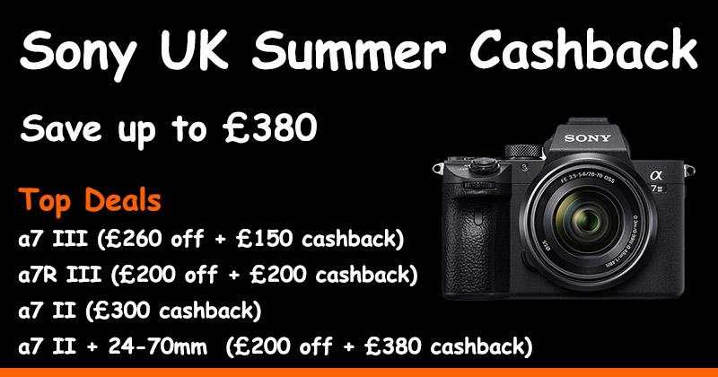 Sony UK Summer Cashback 2019