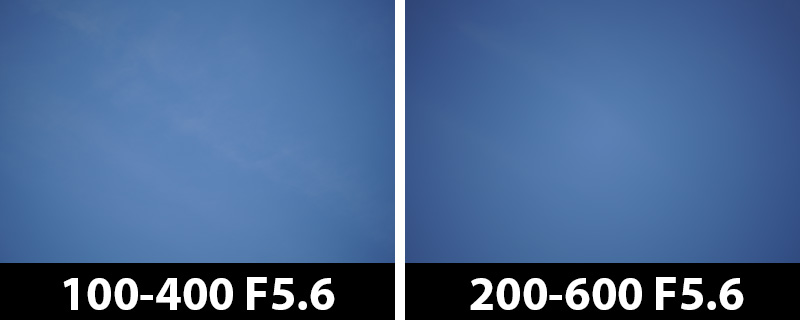 200mm vs 200mm vignetting corrections off