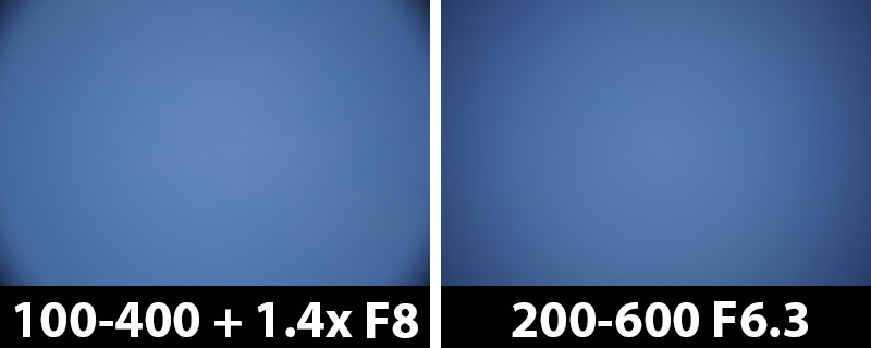 560mm vs 600mm vignetting corrections off