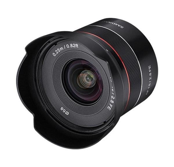 Samyang AF 18mm F2.8 FE Lens Front