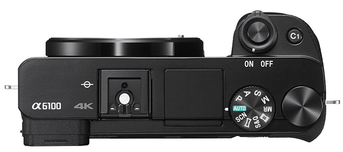 sony a6100 body top