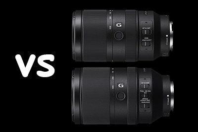 Sony E 70-350mm F4.5-6.3 G vs FE 70-300 F4.5-5.6 G Comparison