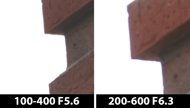 400mm vs 600mm ca off center