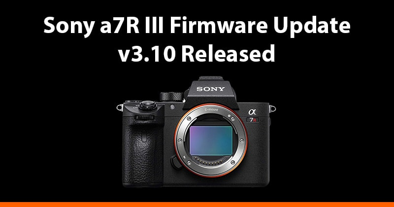 sony a7riii firmware update