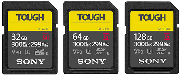 sony a7iii sf-g tough UHS-II memory cards