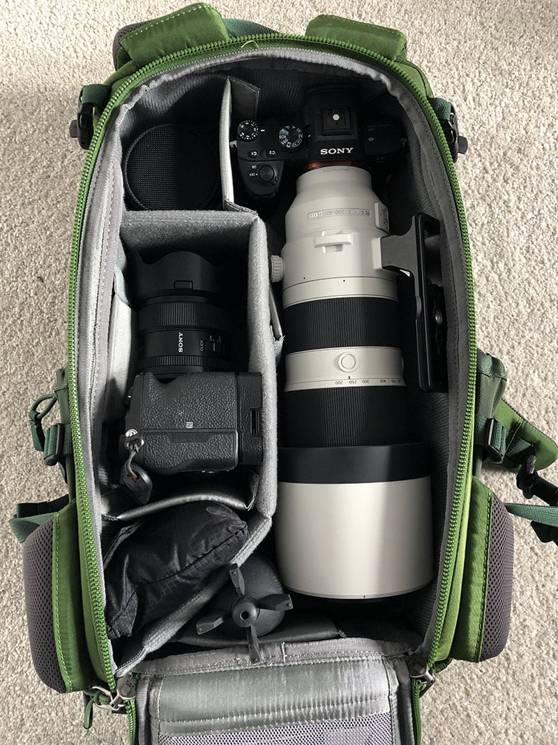 MindShift Backlight 18L Inside with Sony 200-600