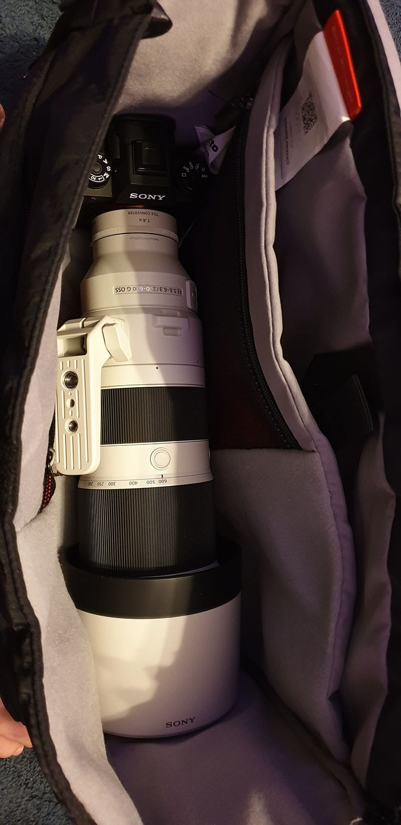 Manfrotto Befree Messenger with Sony 200-600 Inside