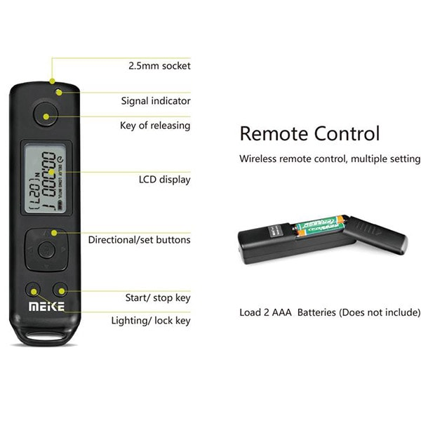 Meike MK-A7R-IV Pro Battery Grip Remote