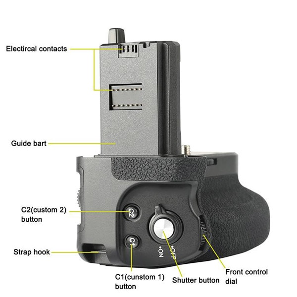 Meike MK-A7R-IV Pro Battery Grip Top