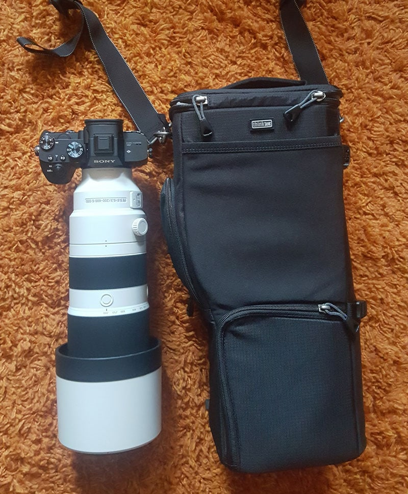 Think Tank Digital Holster 150 with Sony 200-600 Lens