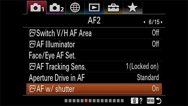 a7riv af with shutter on
