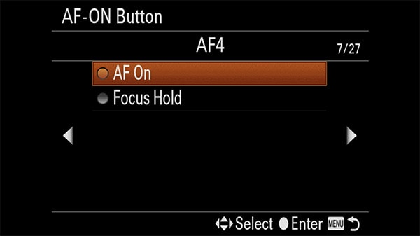 a7riv custom key af-on select