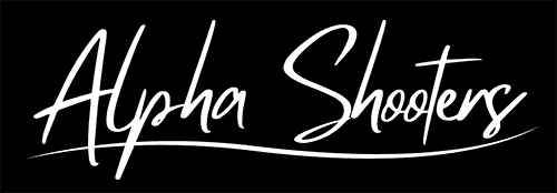 alpha shooters text logo