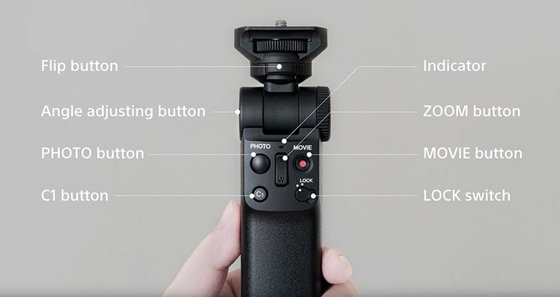 Sony GP-VPT2BT Wireless Shooting Grip Buttons