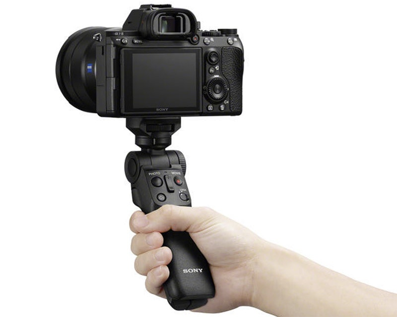 Sony GP-VPT2BT Wireless Shooting Grip in hand
