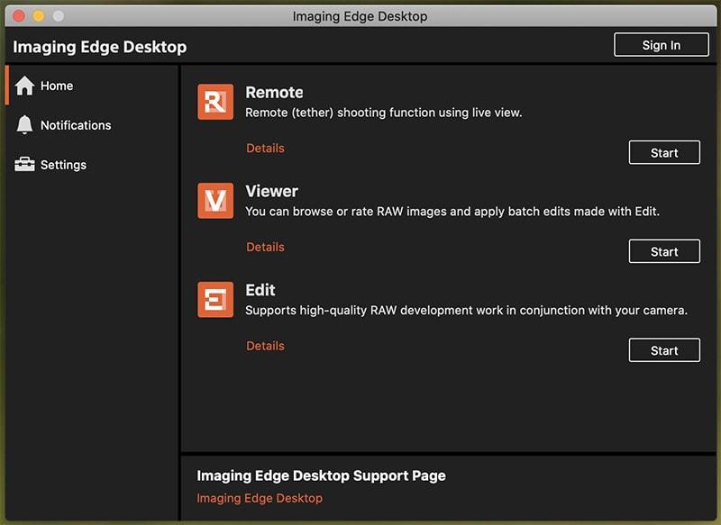 Sony Imaging Edge Desktop 1.0