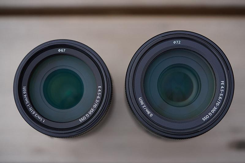 sony 70-350 vs 70-300 filter threads