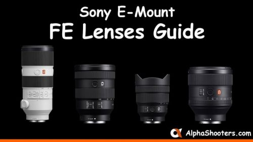 sony e-mount fe lenses