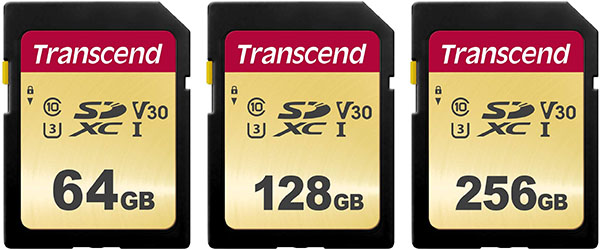 Transcend 500S UHS-I SD Cards