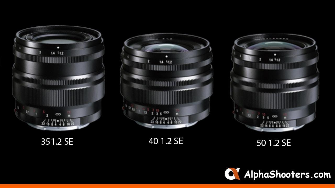 Voigtlander Announces 35mm F1.2, 40mm F1.2 & 50mm F1.2 SE Lenses