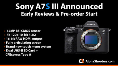 Sony A7S III Announced