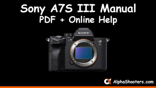 Sony a7S III Manual