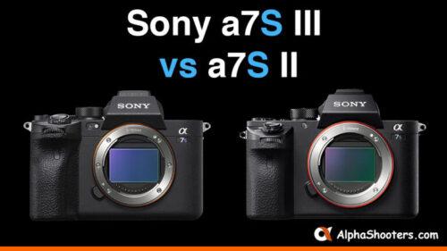 Sony A7S III vs A7S II