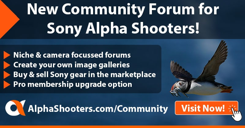 Sony Alpha Shooters Forum