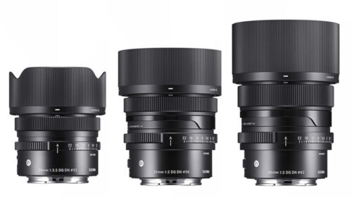 Sigma 24mm F3.5, 35mm F2 and 65mm F2 Lenses