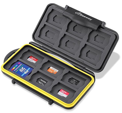 beeway water shock resistant sdcard holder case
