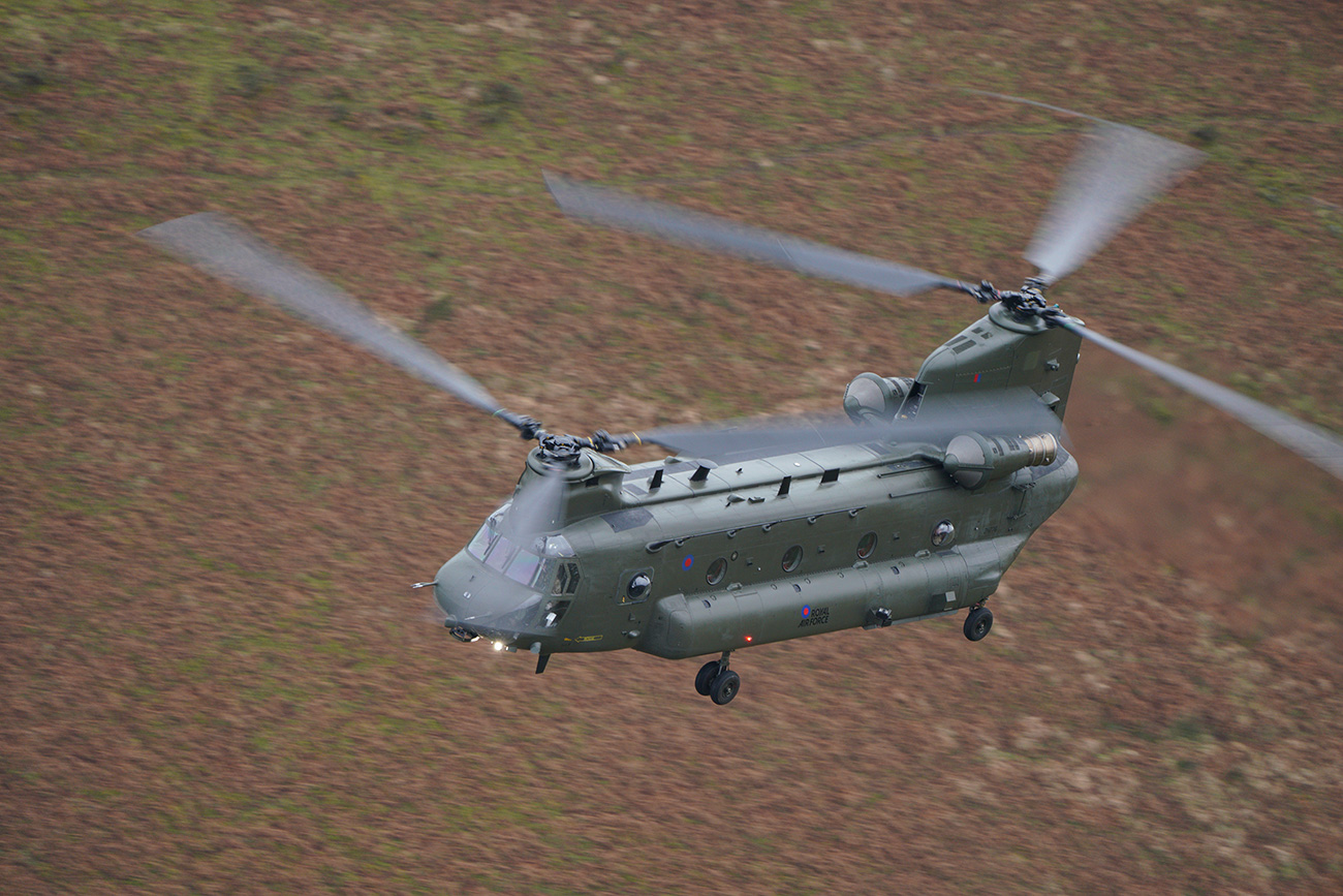 Chinook shot with the Sony SEL100400GM lens