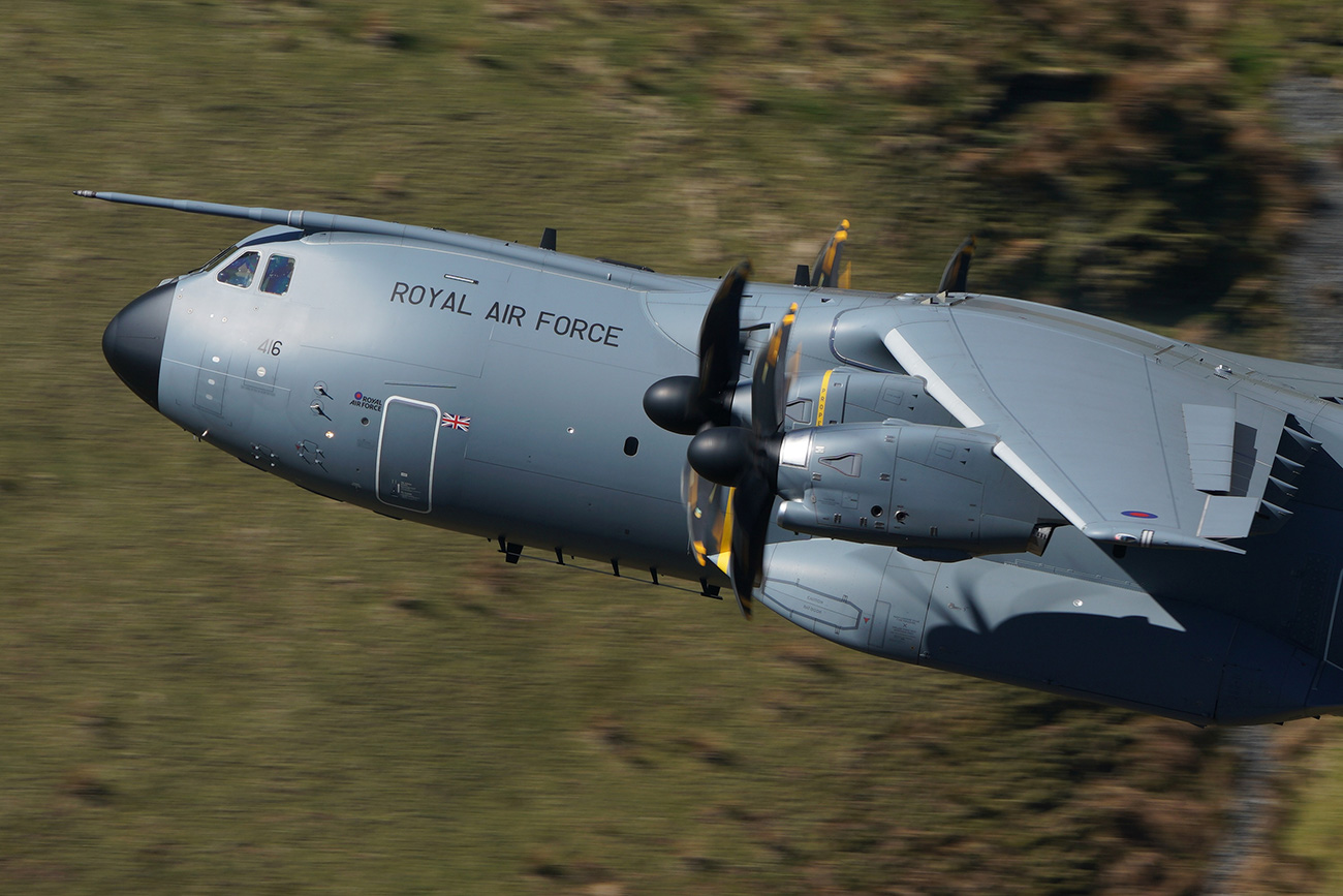 RAF Airbus A400M Shot with the Sony SEL100400GM lens