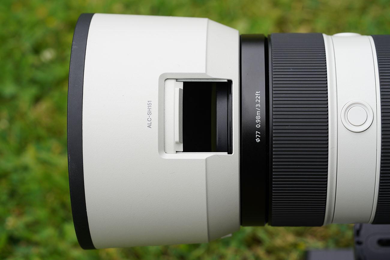 sel100400gm alc-f77s lens hood